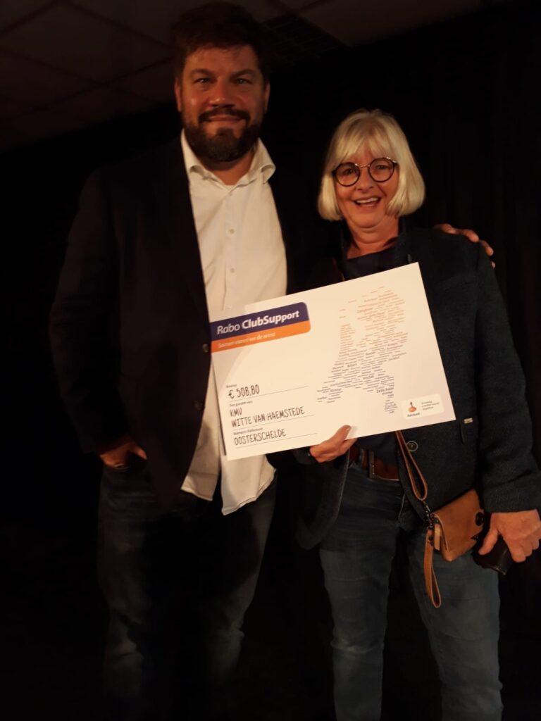 Namens Koninklijke Muziekverening Witte van Haemstede willen wij alle stemmers bedanken. Wij hebben het bedrag van 508,80 mogen ontvangen.